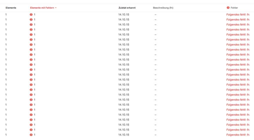 Google Webmaster Tools - fn Fehler