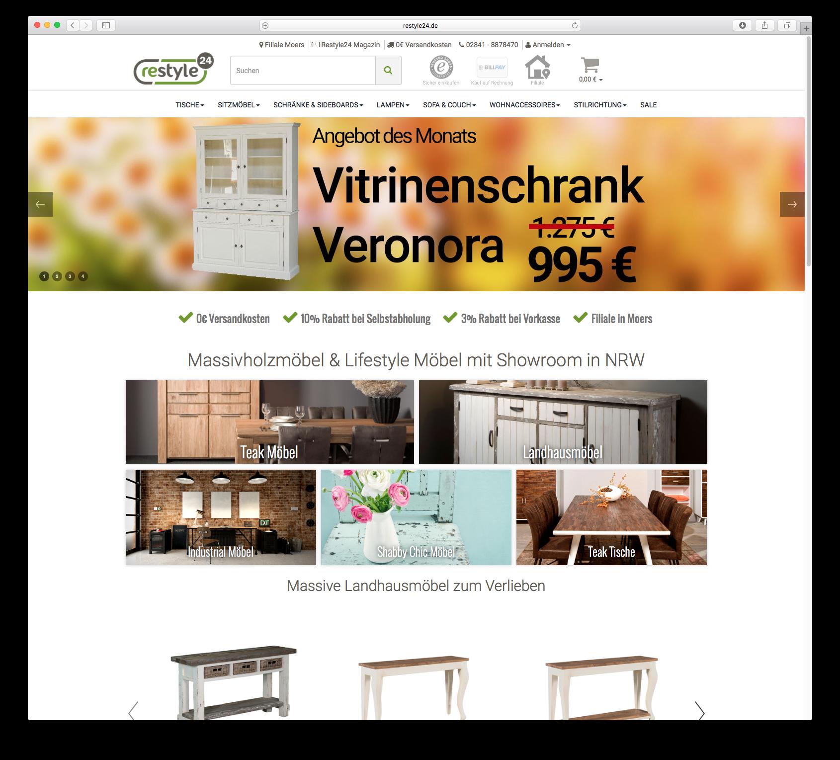 Landhausmöbel Online Shop Restyle24